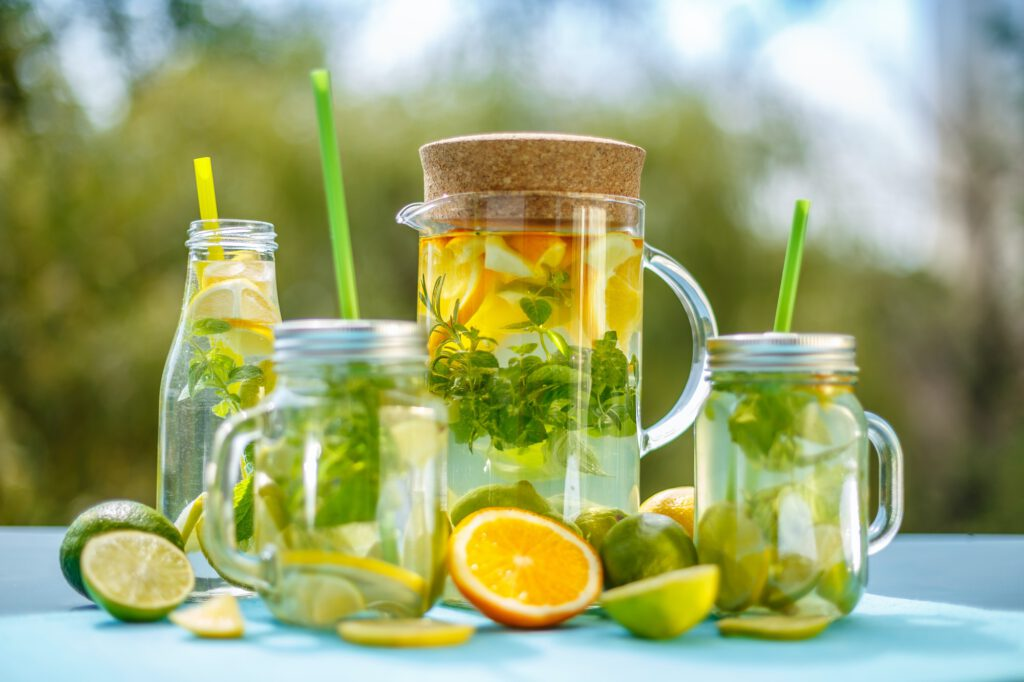 Cold infused detox water