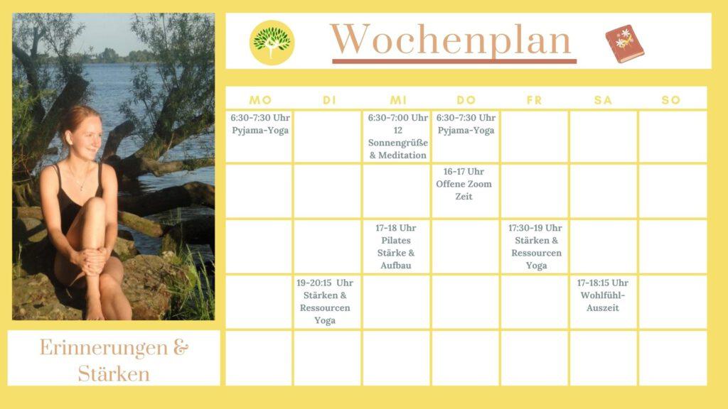 Wochenplan