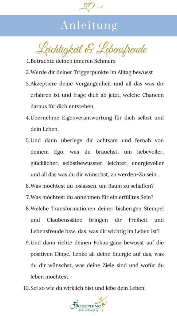 Anleitung für mehr Leichtigkeit im Alltag.